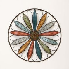 wall decor home accents southwestern pinwheel metal wall sculpture - Home Decor Wall Hangings