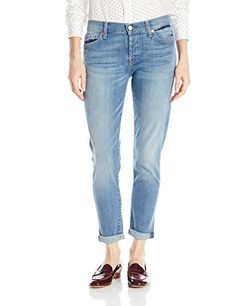 7 For All Mankind Womens Josefina Skinny Boyfriend Jean in Lincoln Light Blue 31 *** To view further for this item, visit the image link.(This is an Amazon affiliate link and I receive a commission for the sales)
