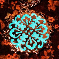Glow In The Dark Winter Snowflake Pendant with Silver Plated Chain by GeekFreakBoutique, $26.50