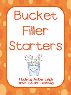 """Filling 'buckets' in my classroom has transformed it into such a positive and kind atmosphere and these compliment starters have made such a difference!     They give students direction on what to write so giving compliments is easy yet still fulfilling.     Changing them up every month is helpful to keep student filling buckets all year long. """