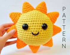 Mr. Sunshine Crochet Pattern - You Are My Sunshine - Valentine's Day Amigurumi - Instant PDF Download