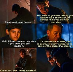 I love alfred and bruce's relationship in this series... I never knew I needed it, but I need it