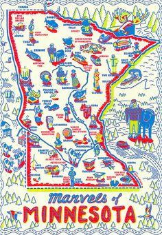 Marvels of Minnesota postcard