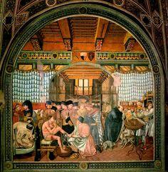 [Renaissance] Domenico di Bartolo - Cura e governo degli infermi  - 1440-1441 - Siena, Santa Maria della Scala – Sala del Pellegrinaio