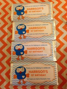 Giggle & Hoot Personalised Chocolate Bar Party Favours!