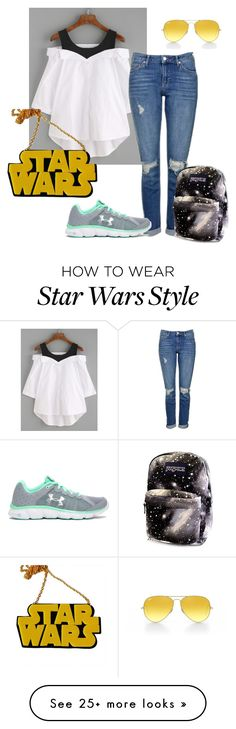 """In a galaxy right here"" by happyclementine on Polyvore featuring Topshop, Chicnova Fashion, Under Armour, Ray-Ban and statementnecklaces"