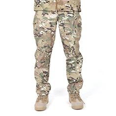 FREE SOLDIER Men Outdoor Sharkskin Fleece Lining Soft Shell Pants Winter Skiing Warm Trousers CP camouflage XL ** More info could be found at the image url.