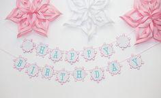 Winter Onederland Birthday Banner - Winter Wonderland Snowflake Theme on Etsy, $30.00