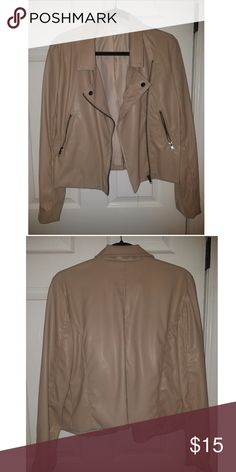 Faux Leather Jacket Faux Leather Tan Jacket super cute for day/ night Sans Souci Jackets & Coats