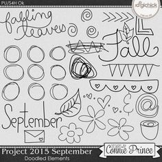 Project 2015 September - Doodled Elements from Designs by Connie Prince