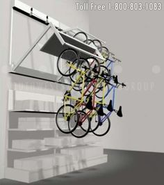 wall-mounted bike storage units for office and residential New York City Buildings