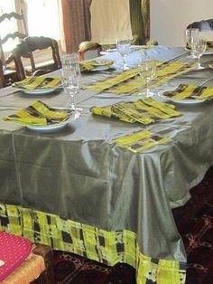 Grande nappe bronze avec serviettes par l-etoile-de-marie - Sets de tab - Afrikrea