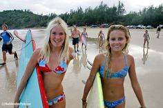 First surf after shark attack with friend Alana Blanchard