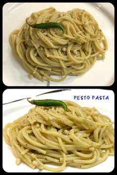 Pesto Pasta, Badge, Spaghetti, Good Food, Dishes, Traditional, Ethnic Recipes, Tablewares, Flatware