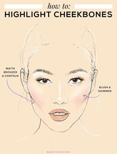 Prom Makeup Tips to Highlight Your Features - CHEEKBONES: How to sculpt and define your cheekbones with makeup