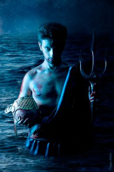 Neptune  was the Roman god of freshwater and the sea.  He is the counterpart of the Greek god Poseidon.