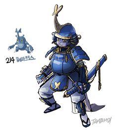 Pokemon gijinka 214. Heracross