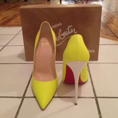 So Kate 120 Flou Mat/Jazz Calf heel Lime green heels AUTH Limited Edition Christian Louboutin Shoes Heels