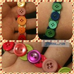 my single strand #button #bracelets #crafts