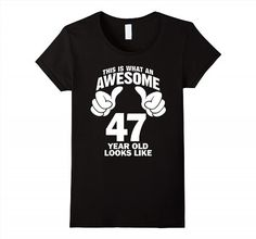 19.95$  Watch now - http://vidii.justgood.pw/vig/item.php?t=17c0skd35344 - What An Awesome 47 Year Old Looks Like Birthday 1970 T-Shirt Women 19.95$