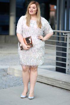 Plus Size Fashion - Partyoutfit - Sequins   Theodora Flipper