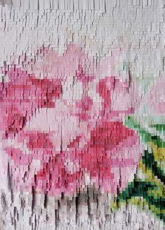 amazing paper artist  - Nathalie Boutte Art Post-it, Papercut Art, Post It Art, Art Amour, Origami, Graffiti, Ouvrages D'art, Art Et Illustration, Motif Floral