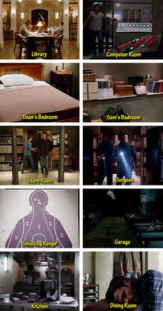 [gifset] Known rooms of the men-of-letters bunker - There's No Place Like Home…