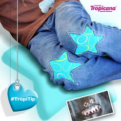 #TropiTip No tires los pantalones rotos de tus hij@s, mejor haz un lindo parche como estos.