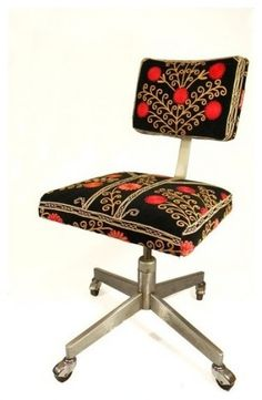 Suzani Office Chair Blooming Pomegranate Tree by MaterialRecovery  task chairs