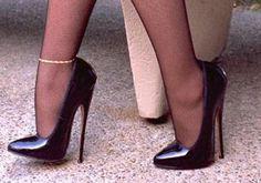 Extreme high heels heels Source by sensationalhighheels Extreme High Heels, Platform High Heels, Black High Heels, High Heels Stilettos, High Heel Boots, Stiletto Heels, Pantyhose Heels, Stockings Heels, Black Stockings
