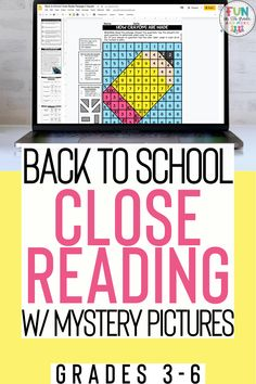 Welcome students back to school with these fun, no prep, themed close reading passages with mystery pictures! Comes in print form or digital form! There are three DIFFERENT passages each DIFFERENTIATED at three DIFFERENT reading levels PLUS one BONUS FREEBIE passage. There are three nonfiction texts and one fiction text. Each text comes with text-dependent questions, writing prompt, graphic organizers, and a mystery grid picture.