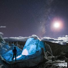 Jeff Dai captured this image on October 7, 2016 and wrote: Is it a view of alien world? Actually it's captured from our planet Earth. Deep in the Himalayas, I made a self-portrait among the serac atop a glacier in Tibet, China.