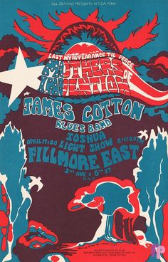 Mothers of Invention at Fillmore East 4/19/68 by Helen Hersh