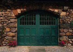 Gorgeous green garage door. [Color, Garage Door Trends, Garage Door Styles, Garage Door, Overhead Door, Canada, Saskatchewan, Regina, Saskatoon]