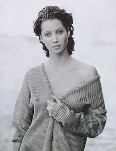 Christy Turlington | Photography by Peter Lindbergh | For Harper's Bazaar Magazine US | May 1993