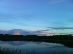 My side of paradise: sunset over the pond, Columbia County, New York, 5/14