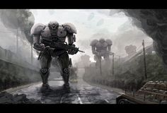 Mecha Brigade by wiredgear.deviantart.com on @deviantART