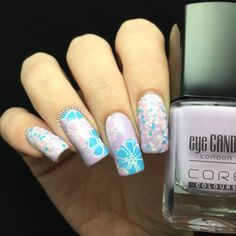 Spring Flowers Nail Art | Polished Inka