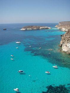 Lampedusa, the largest island of the Italian Pelagie Islands