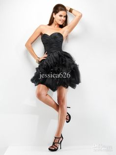 Wholesale New Arrival Short Length Black Ball Gown Cocktail Dress Sweetheart Ruche Satin Lace Up Party Dress, Free shipping, $85.12-103.04/Piece | DHgate