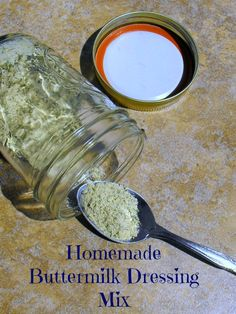 Homemade Buttermilk Dressing Mix #glutenfree #copycat