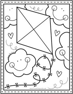 Coloring Club Library — From the Pond Spring Coloring Pages, Easy Coloring Pages, Coloring Sheets For Kids, Free Coloring, Coloring Books, Adult Coloring, Art Drawings For Kids, Drawing For Kids, Easy Drawings