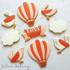 Up, up and away! [Banner Cookie Cutter]  @festoonbaking #cookiecutterkingdom
