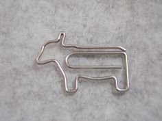 Cow Paper Clip by WelcomeToMyShop on Etsy, $4.50