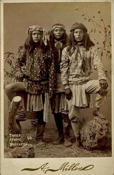 Three Apache Brothers, circa 1888