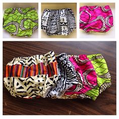 Set of 2 African print Baby diaper cover  bloomers by ZiZiandGrace