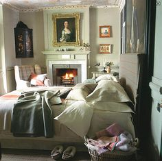 Old world bedroom in Spitalfields...English style interior