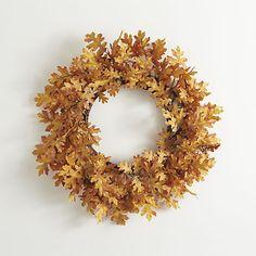 Oak Lead Artificial Wreath, $50; crateandbarrel.com   - ELLEDecor.com