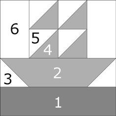 Sailboat quilt block pattern design