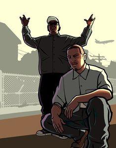 San Andreas Artwork San Andreas Grand Theft Auto, San Andreas Gta, Grand Theft Auto Games, Grand Theft Auto Series, Arte Do Hip Hop, Hip Hop Art, Rockstar Games Gta, Gta Pc, Gta Funny